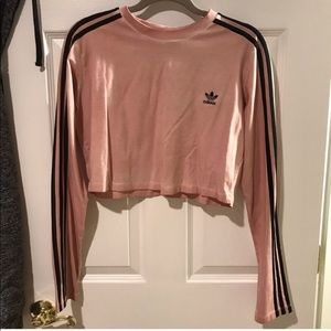Adidas Tie-dye 3 Stripe Cropped Long sleeved shirt